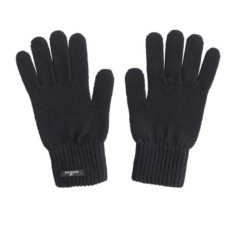 hogan gants et bonnets GantsHHA GANTS - LAINE - NOIR ET LOGO