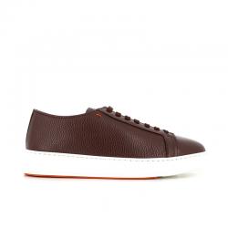 santoni sneakers Sneakers ClineCLINE - CUIR GRAINÉ ET DOUBLÉ NÉ