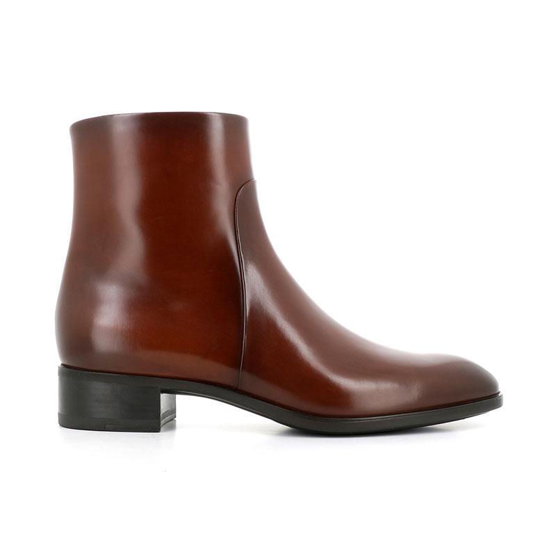 santoni bottines Boots ElodyELODY ZIP - CUIR PATINÉ - GOLD