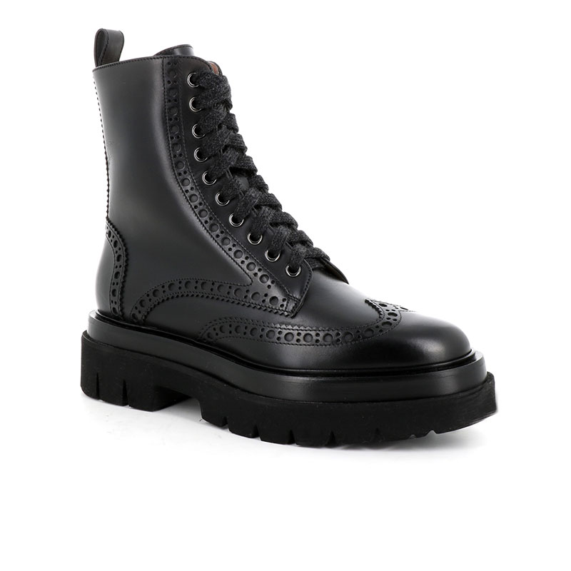 santoni bottines Boots ErinERIN 2 - CUIR - NOIR