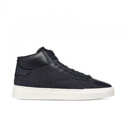 santoni sneakers Sneakers New GlorioNEW GLORIO 7 - CUIR ET FLANELLE