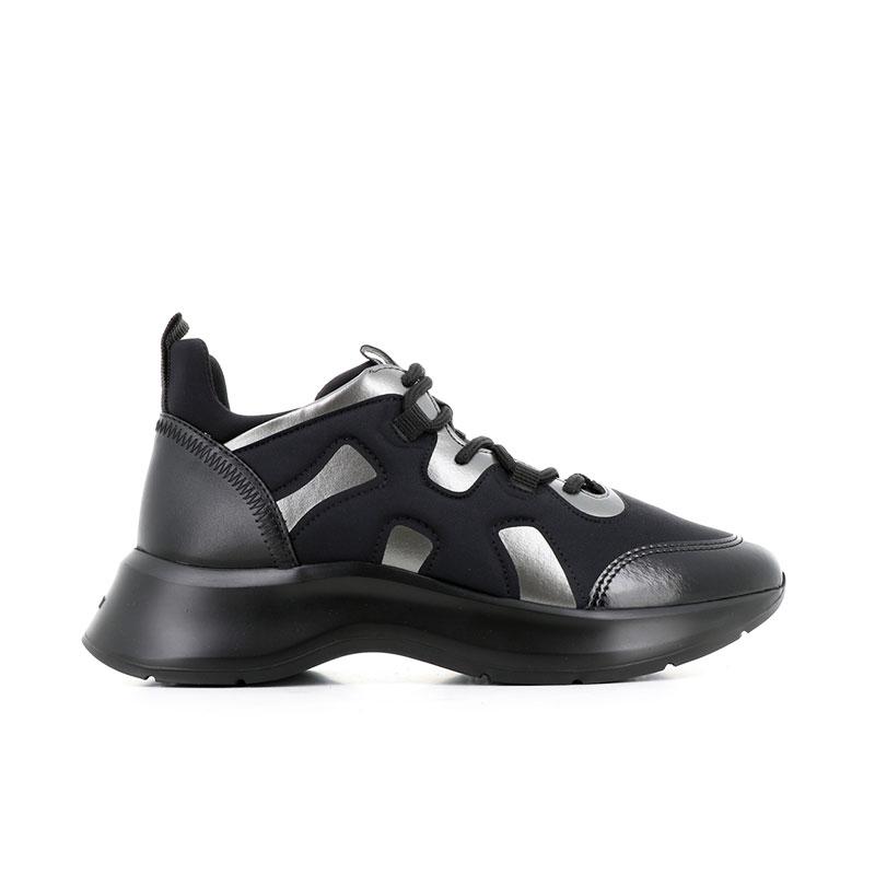 hogan sneakers Sneakers H585HF H585 - CUIR ET NÉOPRÈNE - NOI