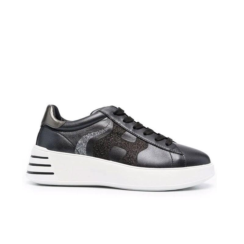 hogan sneakers Sneakers H562HF H562 - CUIR - NOIR ET LOGO H