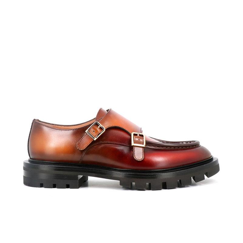 santoni chaussures à boucles Double boucles colin wCOLIN W BOUCLES - CUIR PATINÉ -