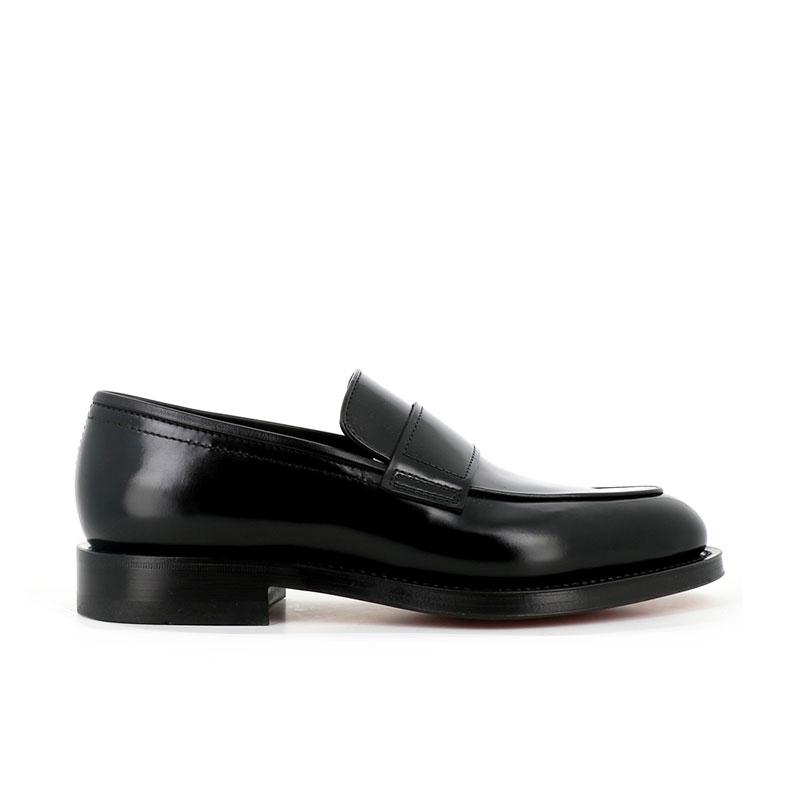 santoni mocassins et slippers Mocassins ColinCOLIN MOC - CUIR - NOIR