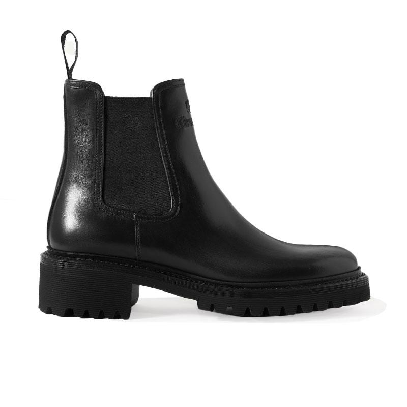 church's bottines Boots gwenGWEN - FUMÉ CALF - BLACK