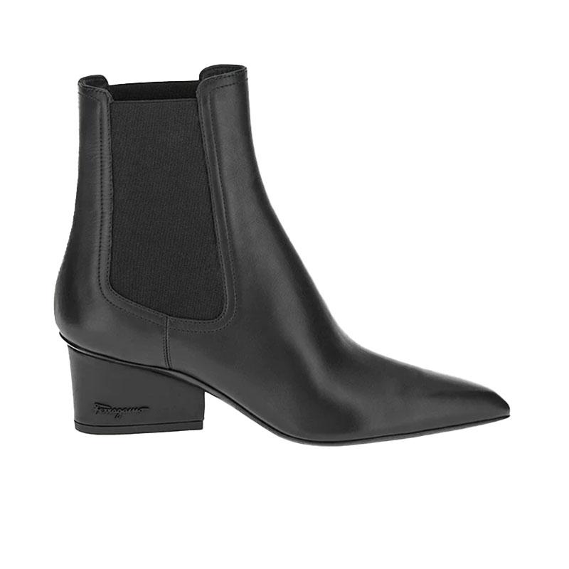 salvatore ferragamo bottines boots veltaSF BOOTS VELTA 55 - CUIR - NOIR