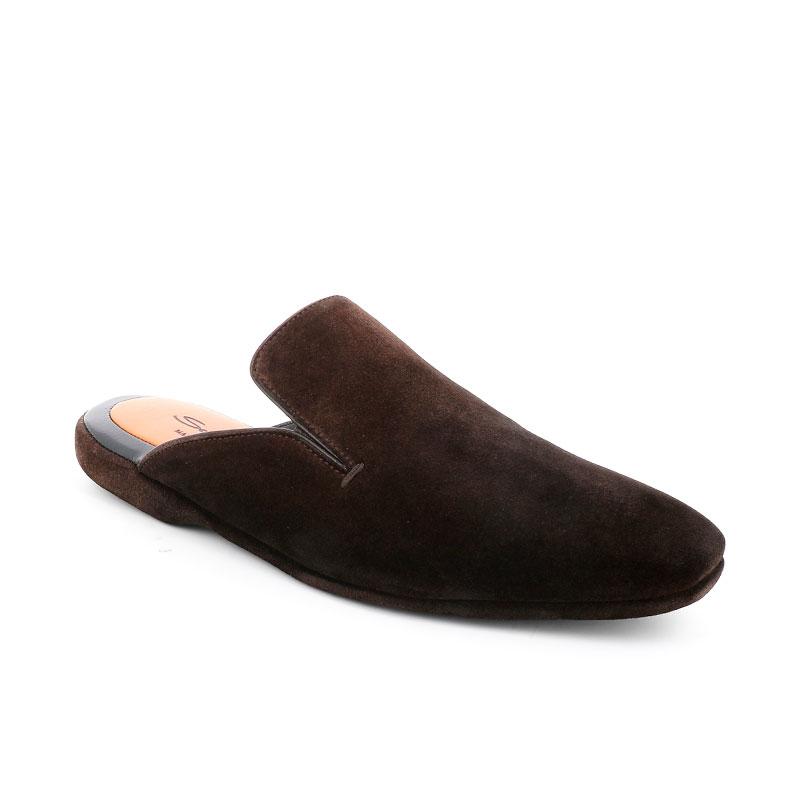 santoni chaussures d'intérieur santoni slippersSANTONI SLIPPERS - NUBUCK - MARR