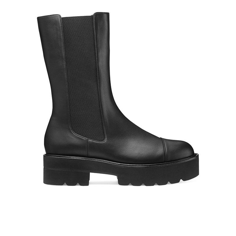 stuart weitzman bottines Boots PresleySW BOOTS PRESLEY - CUIR - NOIR