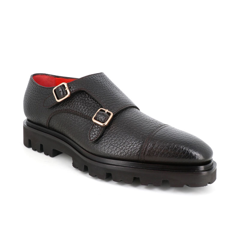 santoni chaussures à boucles Boucles Levante CDOLEVANTE BOUCLE CDO - CUIR GRAINÉ