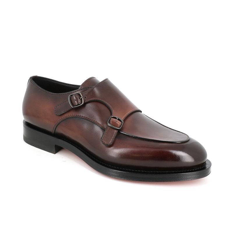 santoni chaussures à boucles Double Boucles ColinCOLIN DOUBLE BOUCLES - CUIR PATI