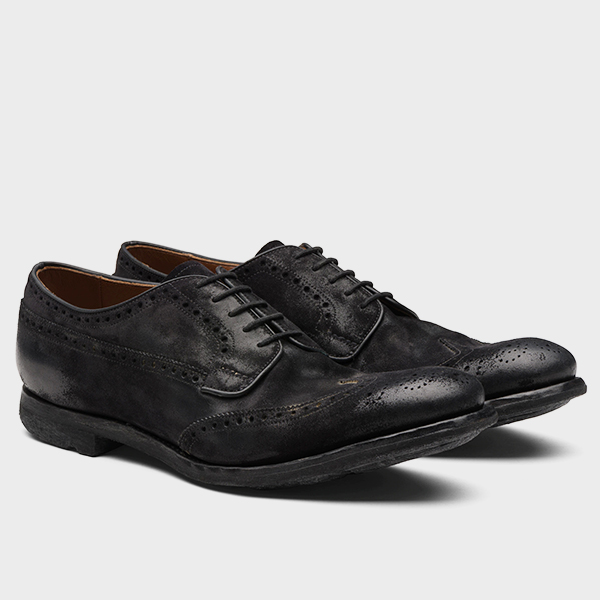 CHURCHS Derbies & Richelieus Grafton 1930 Nubuck Vintage Noir