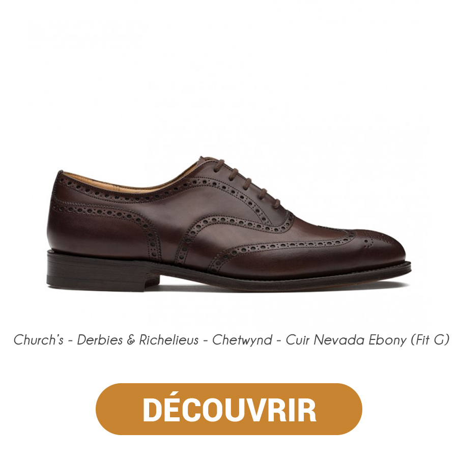 Derbies & Richelieus - Chetwynd - Cuir Nevada Ebony (Fit G) - Church's