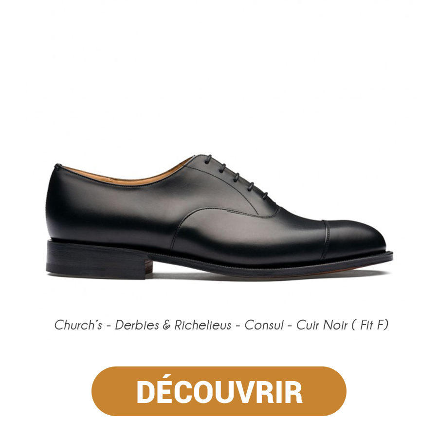 Derbies & Richelieus - Consul - Cuir Noir ( Fit F) - Church's